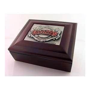 San Francisco Giants Wood Collectors Box MLB Baseball with
