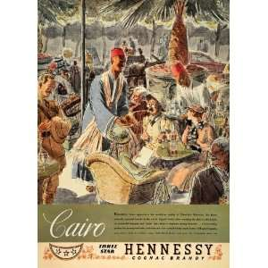 1934 Ad Hennessy Cognac Brandy Cafe Cairo ouriss