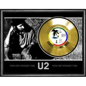 U2 With Or Without You Framed Gold Record A3 Musical