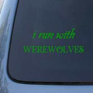 RUN WITH WEREWOLVES   Twilight Team Jacob   Vinyl Car Decal Sticker