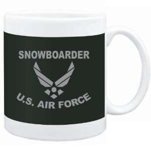 Mug Dark Green  Snowboarder   U.S. AIR FORCE  Sports