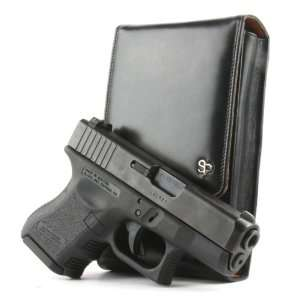 Glock 26 Sneaky Pete Holster (Belt Loop) Black Leather
