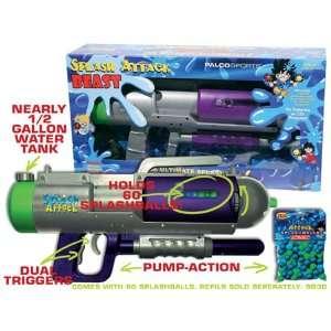 Splash Attack Beast Water Cannon/ Splashball Shooter Silver/purple