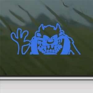 TAZZMANIAN DEVIL Blue Decal Car Truck Window Blue Sticker