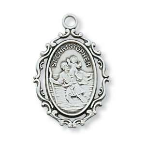 St. Saint Sterling Silver St Saint Medal St. Saint Christopher