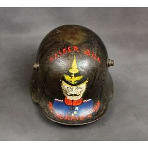 Original WWI German M 1916 Trench Art Helmet Everything