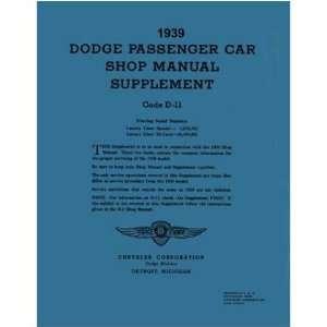 1939 DODGE TRUCK Shop Service Repair Manual Book