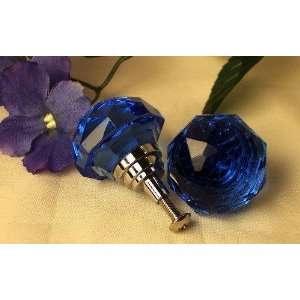 LARGE Cobalt Blue Solid Crystal Glass Drawer/Door Pull