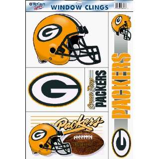 Set of (5) Team Window Clings Green Bay Packers  Sports