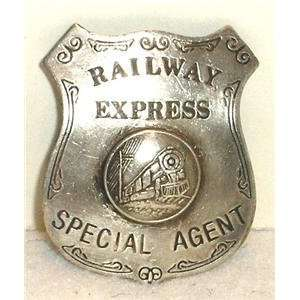 Railway Express Obsolete Special Agent Police Badge