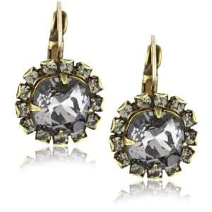 Liz Palacios Arco Iris Silver Night Crystal Earrings Jewelry