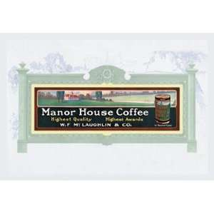 Manor House Coffee 12x18 Giclee on canvas