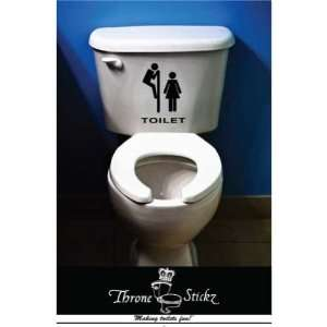 Pervert   Funny sticker for your toilet   vinyl decal   Throne Stickz