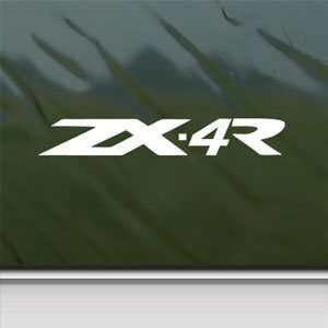 Kawasaki White Sticker Ninja ZX 4R Car Vinyl Window Laptop
