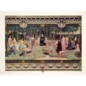 com 1912 Color Print Pierre Puvis De Chavannes Letters Sciences Arts