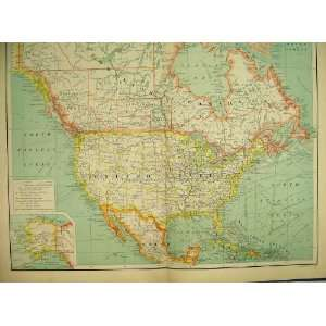 Commercial Chart North America 1898 Map Alaska Home & Kitchen