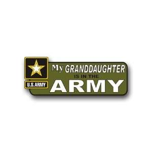 United States Army My Granddaughter is in the Army Bumper Sticker 9