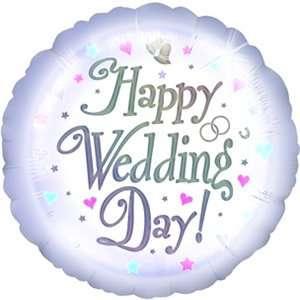 Partyexplosion Happy Wedding Day 18 Inch Foil Balloon