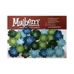 Mulberry Street Paper Mini Delphiniums Dark Blue, Light Blue, Green