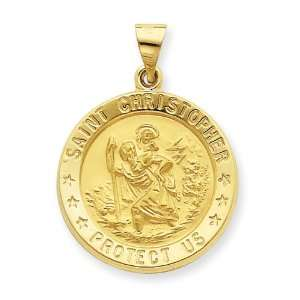 14k Saint Christopher Medal Pendant: West Coast Jewelry: Jewelry