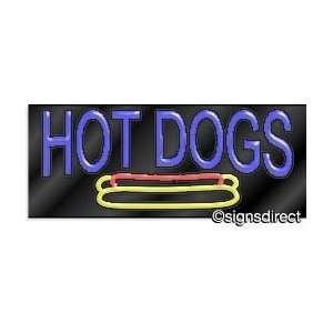 HOT DOGS Neon Sign w/Graphic