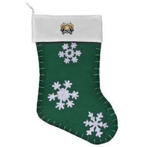 Christmas Stocking Green Live Fast Die Young Skull