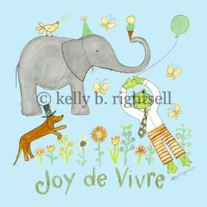 Joy de Vivre BLUE 10x10 art panel