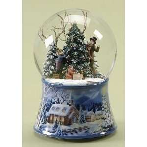 Musical Kids Decorating the Christmas Tree Snow Globe