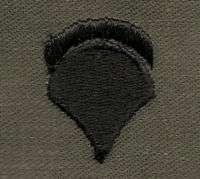 SPEC 5 ARMY COLLAR INSIGNIA  fabric  subd VN **RARE** |