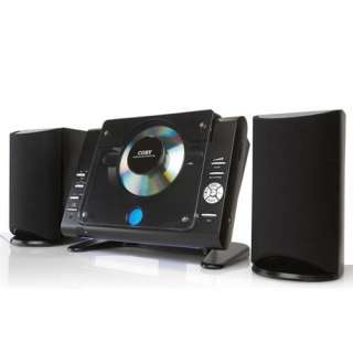 Coby CXCD377BLK Micro CD Player Stereo System with AM/FM Tuner at