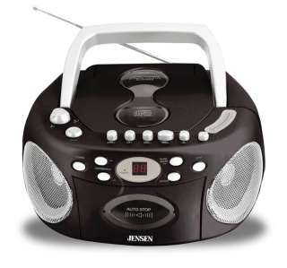 Jensen CD 540 Portable Stereo Compact Disc Cassette Recorder with AM