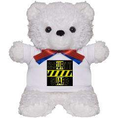 SECURITY GUARD WARNING SIGN Teddy Bear > SECURITY GUARD WARNING SIGN