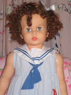 1959 Ideal Penny Play Pal Doll 32 Curly Auburn Hair Life Size