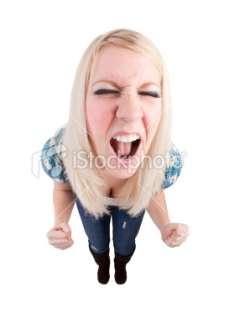 Teenage Girl Throwing Tantrum Royalty Free Stock Photo