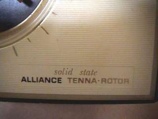 VINTAGE ALLIANCE TENNA ROTOR / TV ANTENNA ROTOR CONTROL |