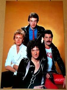 QUEEN FREDDIE MERCURY BRIAN MAY GROUP TRIBUTE POSTER