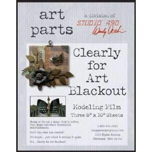 Wendy Vecchi Clearly For Art Modeling Film Sheets 3/Pkg Blackout, 8