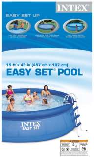15 x 42 Easy Set Swimming Pool w/ Pump & Ladder 078257398393