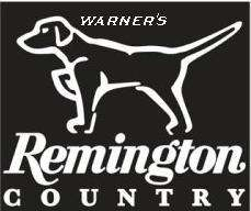 Remington Country Pointing Dog White Vinyl Decal