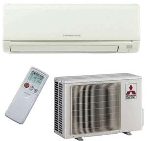 9000 BTU Mitsubishi MR.SLIM Ductless Mini Split Air Conditioner SEER21