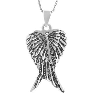 Co. Sterling Silver Angel Wings Pendant, 18 Pendants & Necklaces