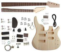DOUBLE NECK GUITAR KIT WITH BASS NECK AND ELECTRIC NECK