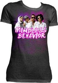 MINDLESS BEHAVIOR ABSTRACT POP MUSIC JUNIOR GIRLS TV T SHIRT MEDIUM