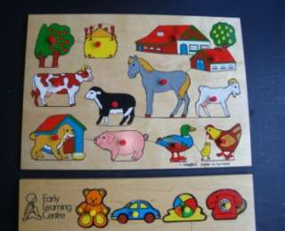 Puzzles Farm Animals Horse Cat Dog Hen Kangaroo Pig Cow Turtle