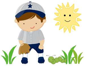 BASEBALL SPORTS BOY KIDS WALL STICKERS DECALS BORDER