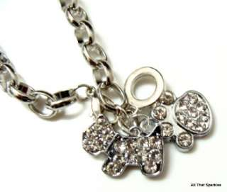 Puppy Dog Paw Print Girls Child Belcher Charm Bracelet