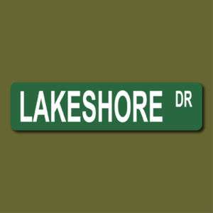 LAKESHORE DRIVE Chicago Illinois 6x24 Metal Street Sign