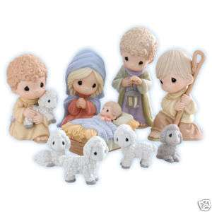 Precious Moments Christmas Nativity 9 Piece Set