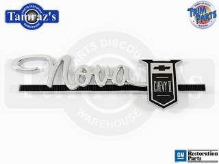 63 64  Nova Chevy II  Dash Glove Box Door Emblem
