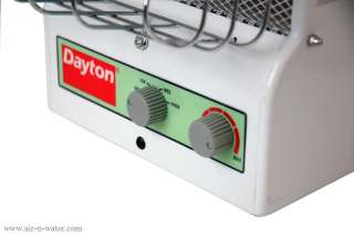 U31 Dayton Portable Electric Heater Features Dual Heating Technologies